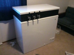 Keezer with Taps
